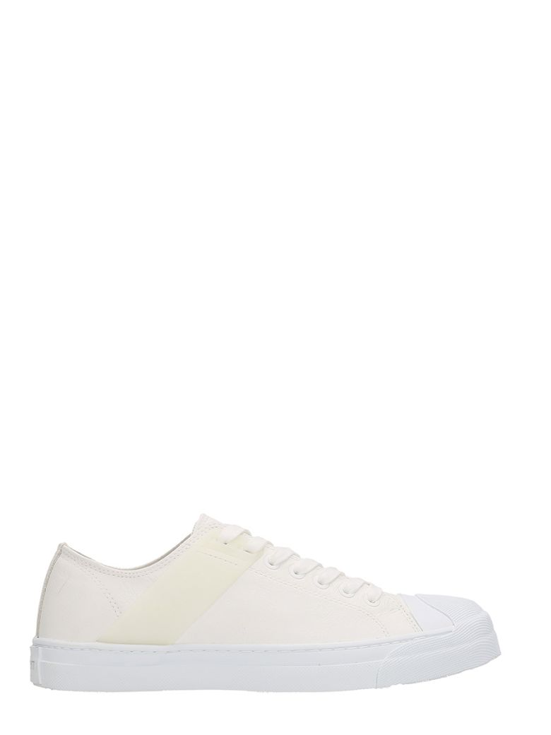 NEIL BARRETT Gang Low-Top Leather Trainers, Black