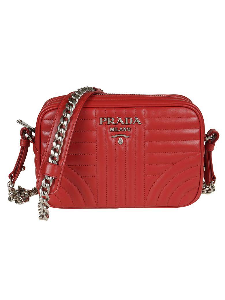 01eab57219f7 Prada Beveled Camera Shoulder Bag In Rosso
