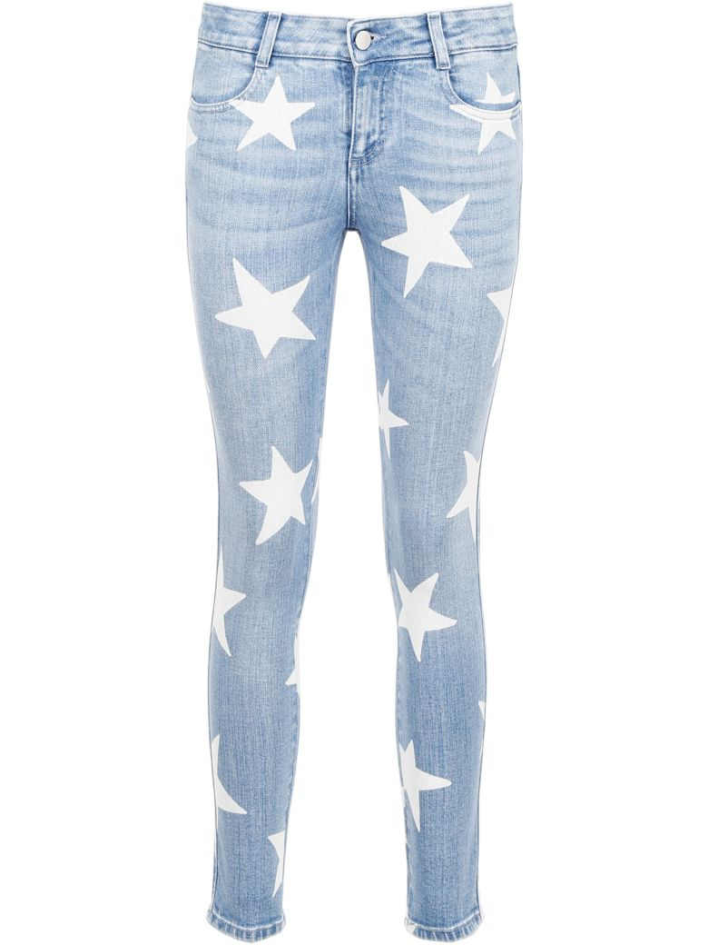 Stella McCartney Star Print Jeans - PALE BLUE|Blu
