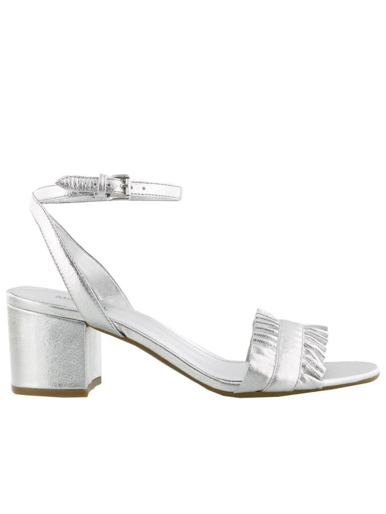 258ca5876ab9c Michael Kors Bella Sandals In Silver