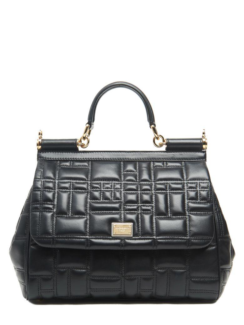 MISS SICILY HAND BAG IN NAPPA MATELASSE COLOR BLACK