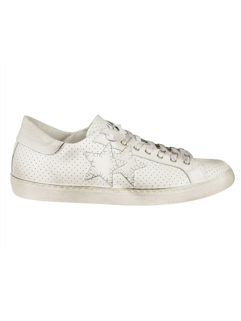 2STAR SIDE LOGO PERFORATED SNEAKERS