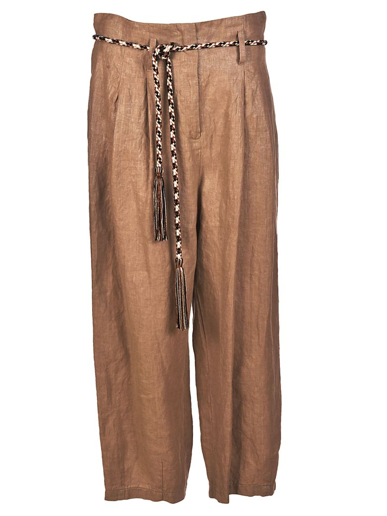 BRAND UNIQUE LOOSE CROPPED TROUSERS