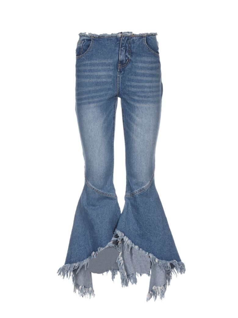 Jovonna FRINGED WIDE CUFF JEANS