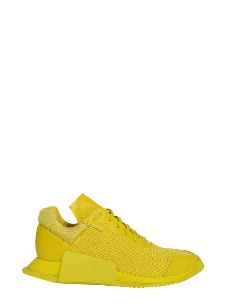 ADIDAS BY RICK OWENS RO LEVEL RUNNER LOW II SNEAKERS IN YELLOW