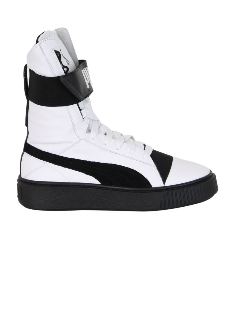 WHITE PLATFORM BOOT SNEAKERS