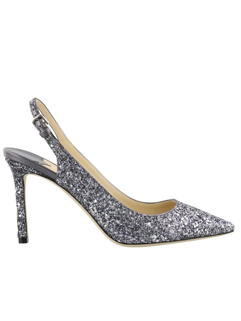 Women'S Erin 60 Glitter Leather Slingback Pumps in Metallic