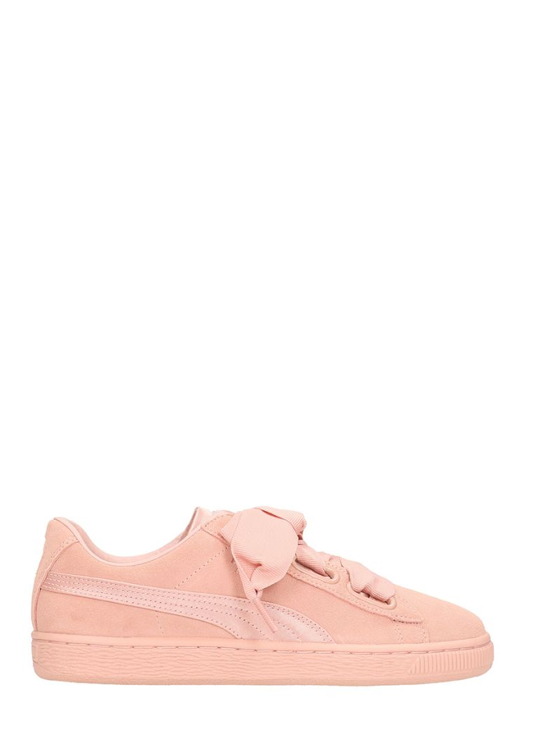 Suede Heart Ep Sneakers, Rose-Pink