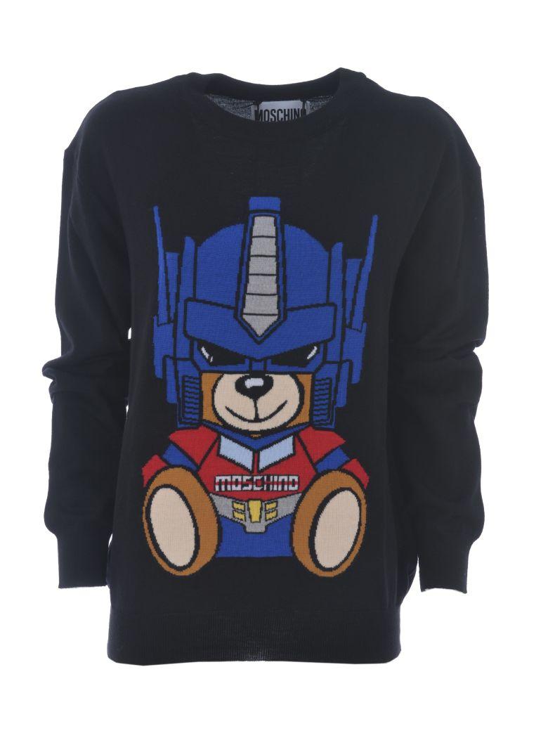 Transformer Bear Jumper in Nero
