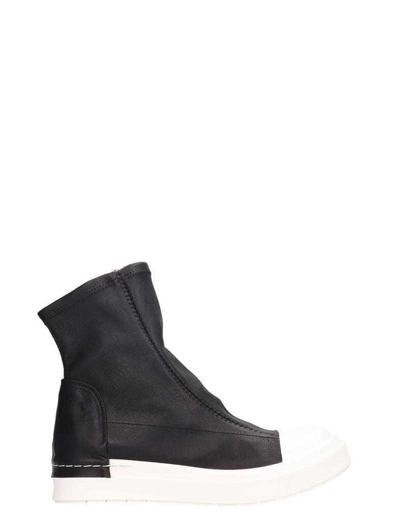 CINZIA ARAIA Sock-Like Upper Sneaker Boots in Black