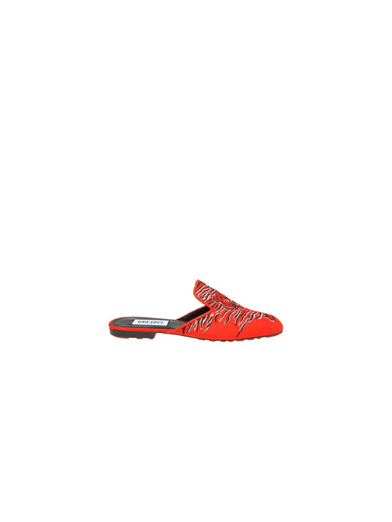 SABOT IN RED SUEDE