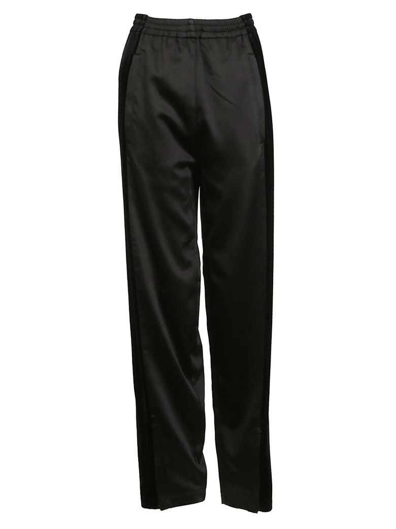 HIGH-WAIST TRACKSUIT TROUSERS