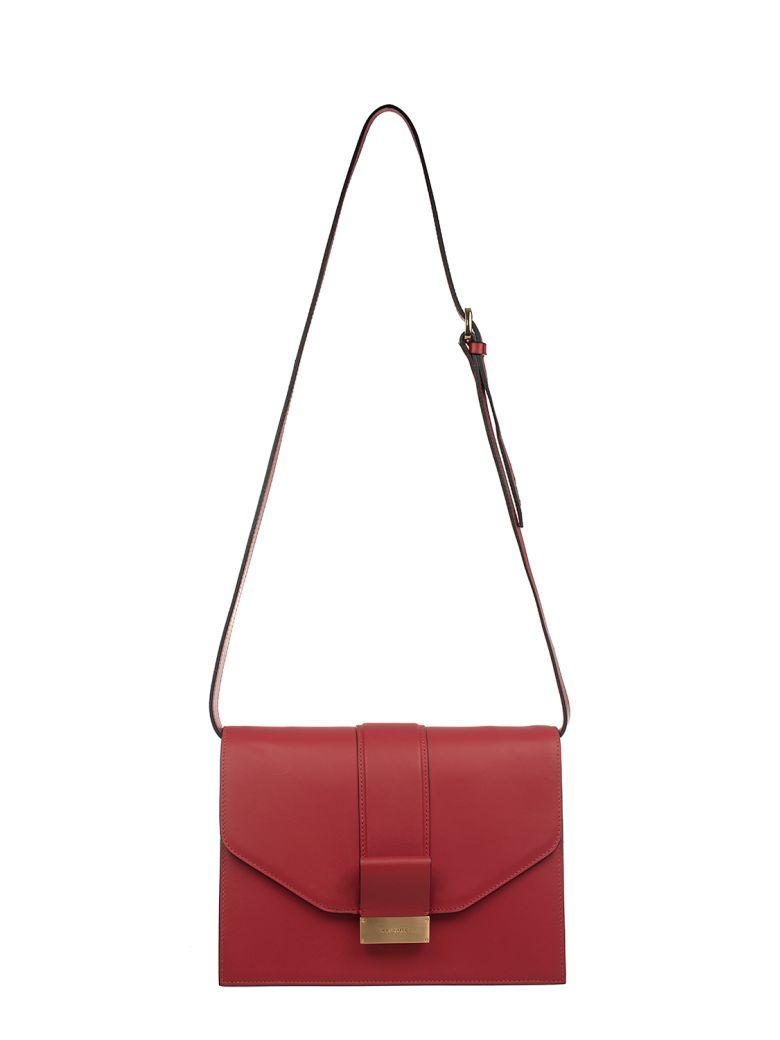 Visone RED CARRIE SMALL LEATHER SHOULDER BAG