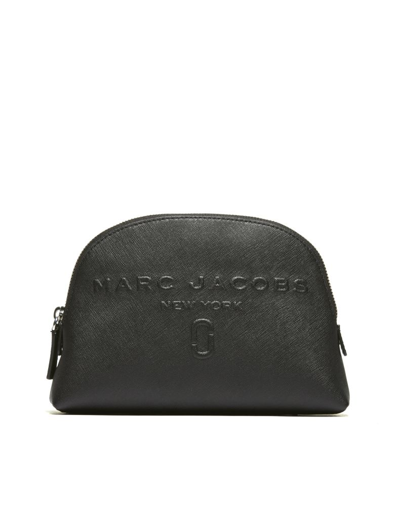 Logo Embossed Cosmetic Bag, Nero