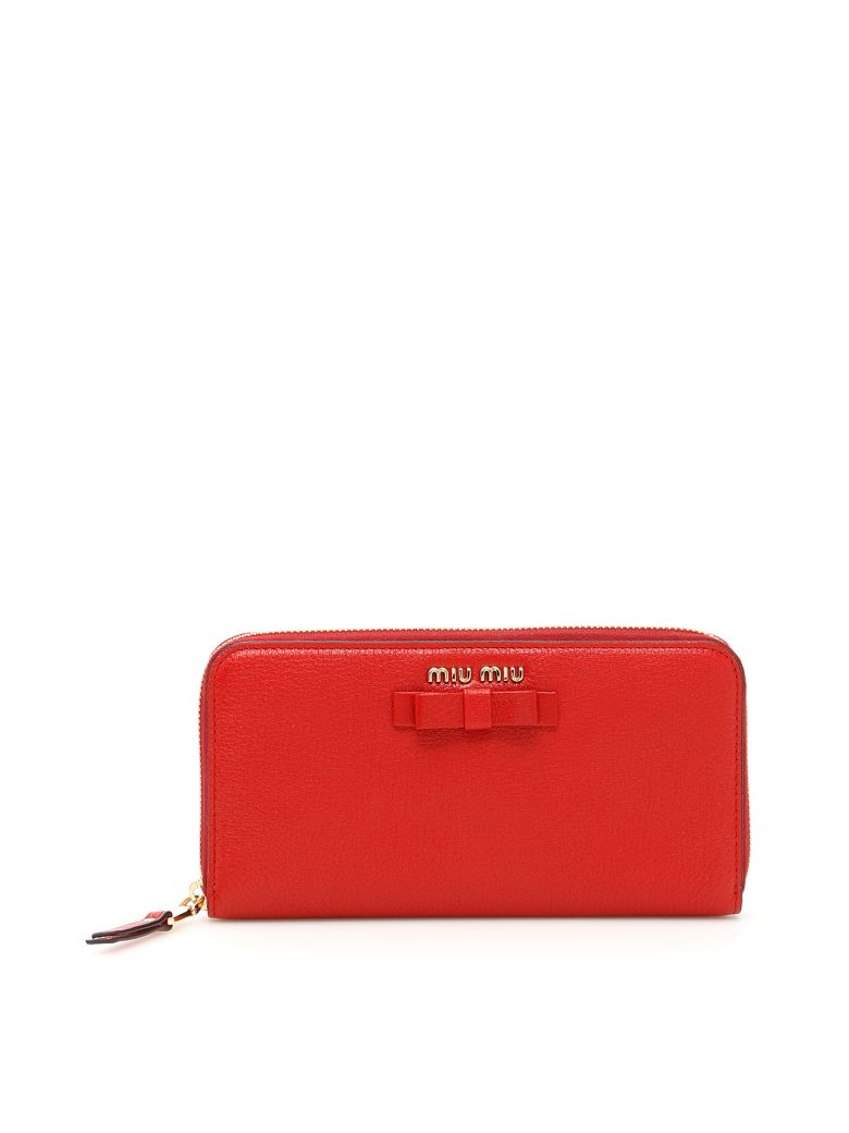 MADRAS ZIP-AROUND WALLET WITH BOW