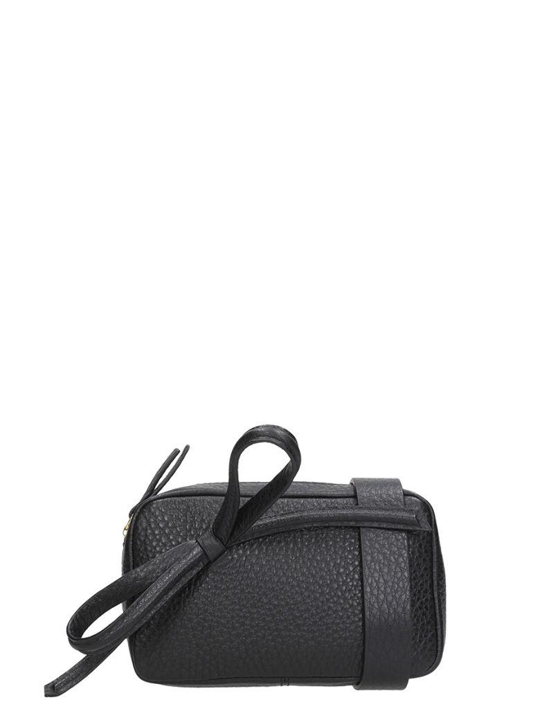 BLACK CALF LEATHER BAG
