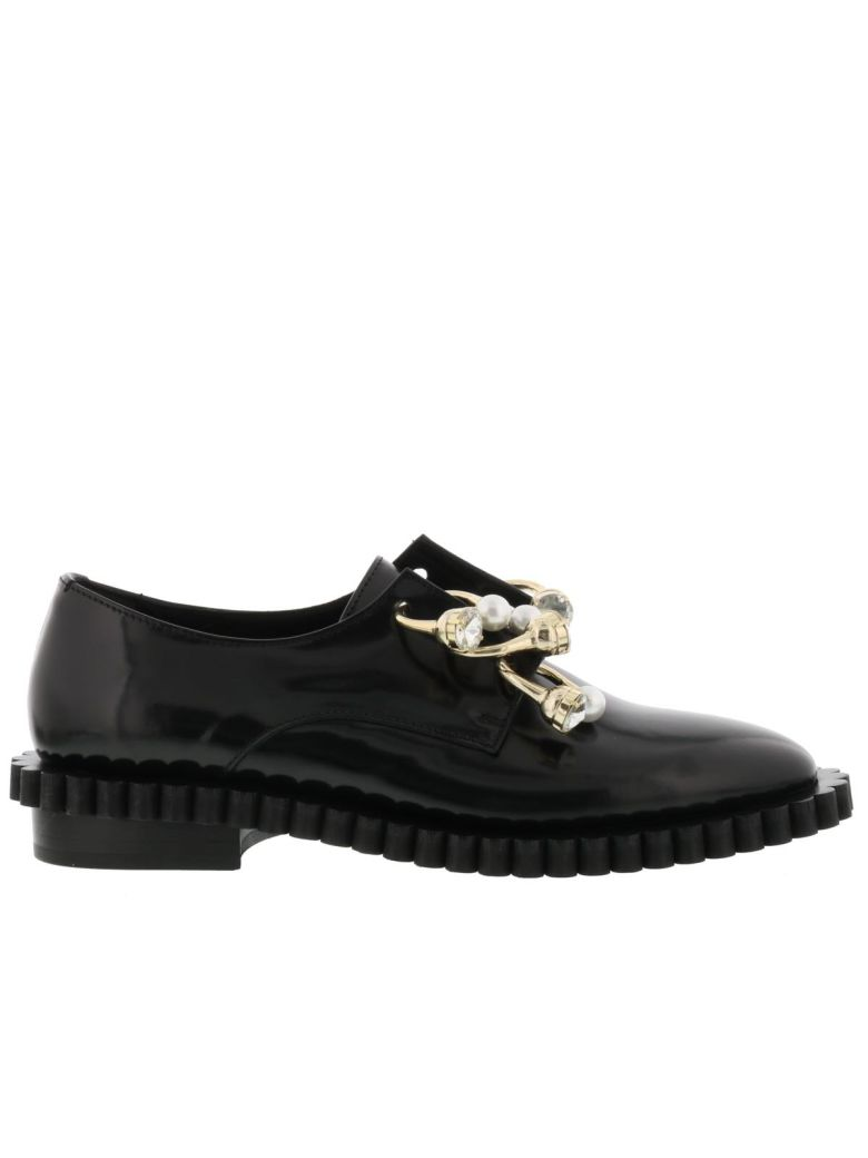 Cake Laced Up Shoes, Black
