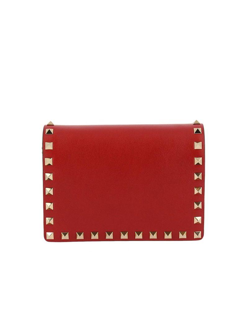Rockstud Valentino Bag Shoulder Thin Spike Mini With Chain Oqqx8rEw7