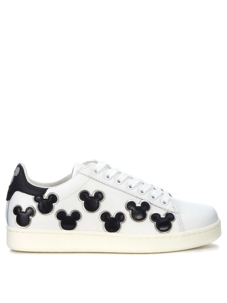M.O.A. MASTER OF ARTS SNEAKER MOA MICKEY MOUSE IN PELLE BIANCA