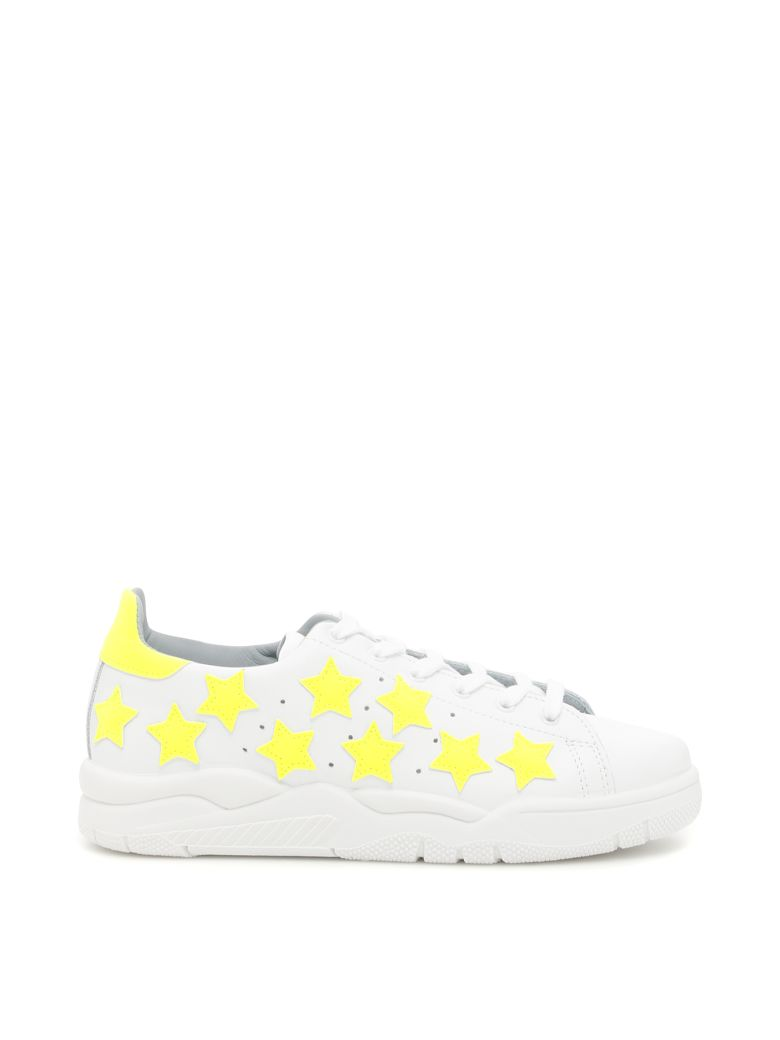 LEATHER ROGER SNEAKERS WITH FLUO STARS