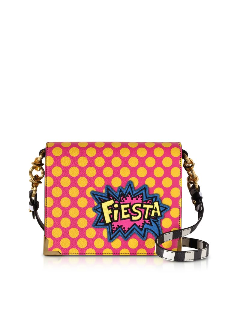 ALESSANDRO ENRIQUEZ Hera Pop Fiesta Leather Shoulder Bag in Red
