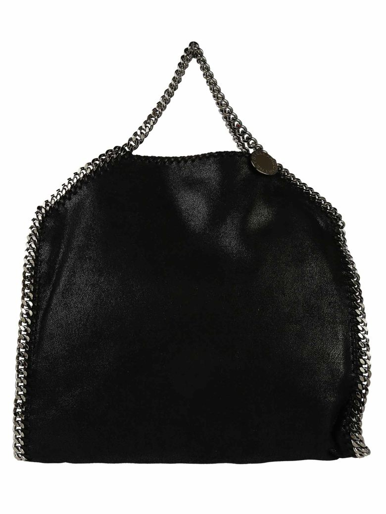 The Falabella Mini Faux Brushed-Leather Shoulder Bag, Black