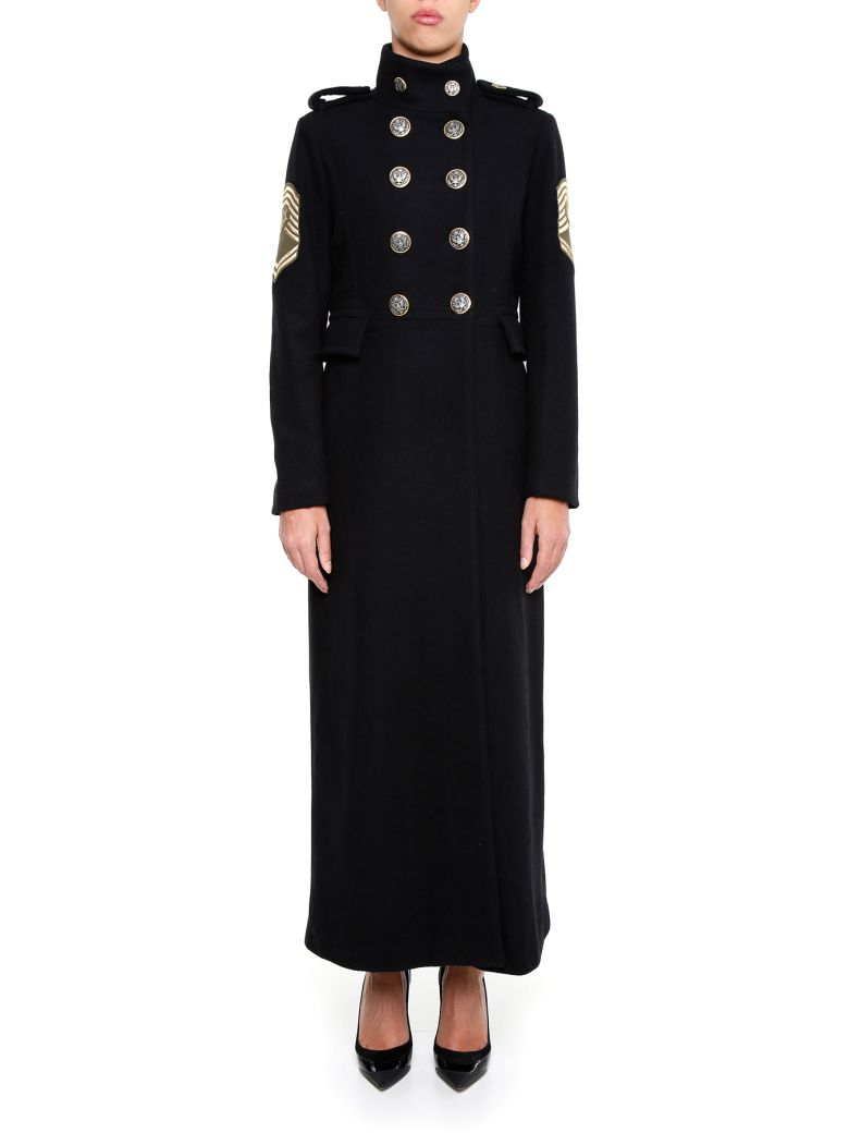 HISTORY REPEATS Wool Cloth Coat in Nero