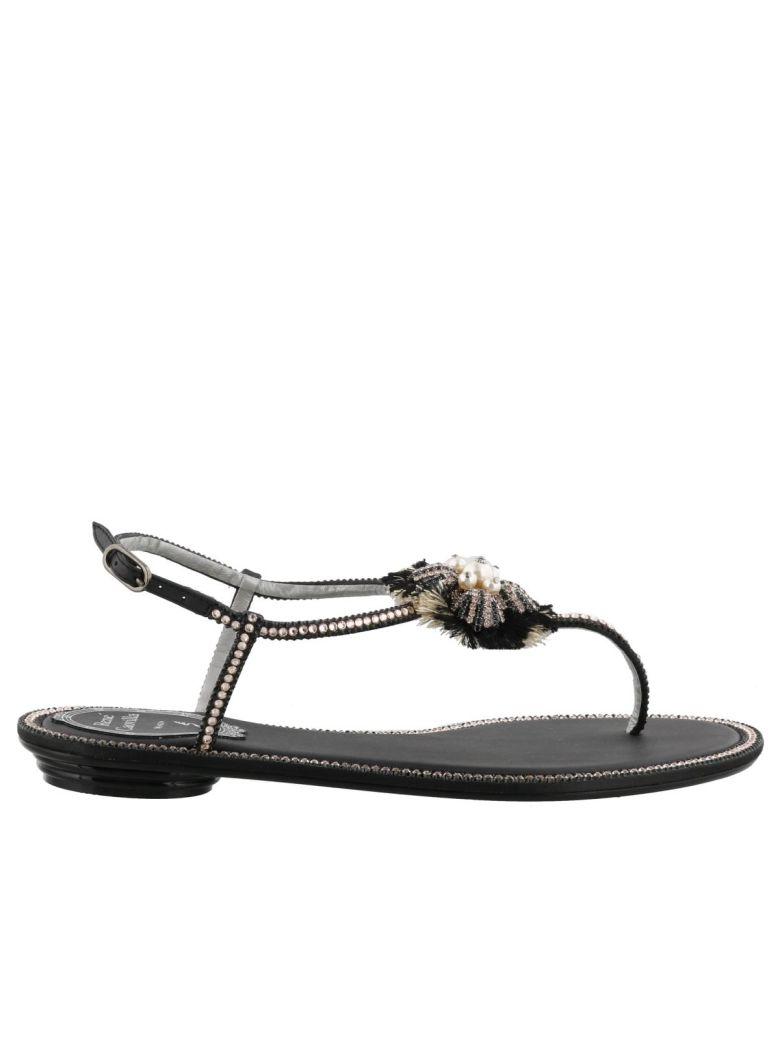 RENÉ CAOVILLA Rene Caovilla Flat Sandals Shoes Women Rene Caovilla in Black