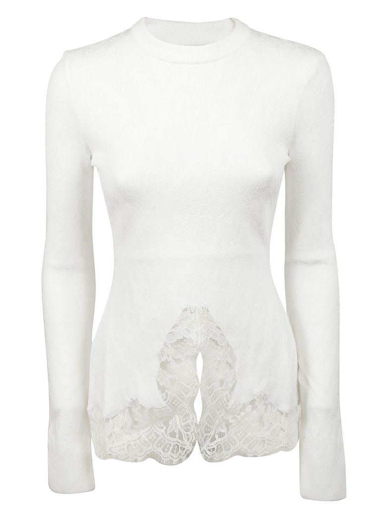 LACE DETAILING PULLOVER