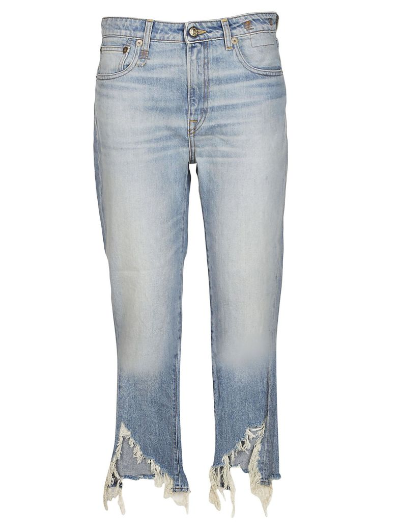 TORN KICK FIT JEANS
