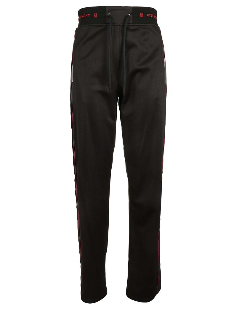 Givenchy Logo Track Pants - Black Red
