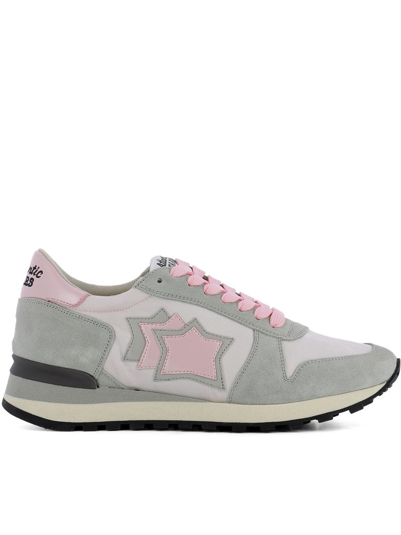 ATLANTIC STARS Alhena In Grey Suede And Pink Fabric Sneaker