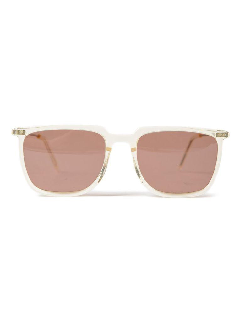 DELIRIOUS Round Frame Sunglasses in Vanilla Parallel