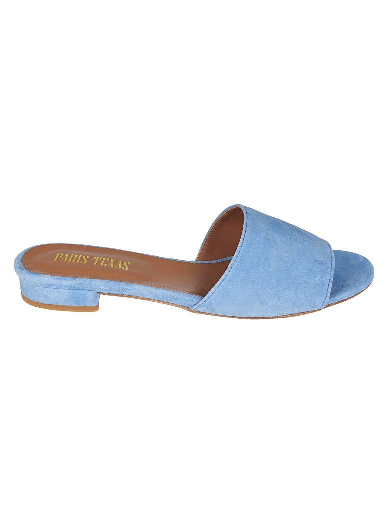 PARIS TEXAS Open Toe Sandals in Pastel Blue