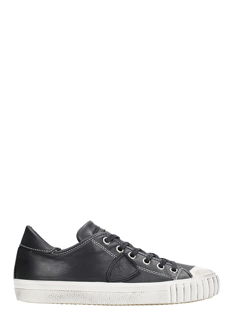 Philippe Model Sneakers BLACK LEATHER SNEAKERS