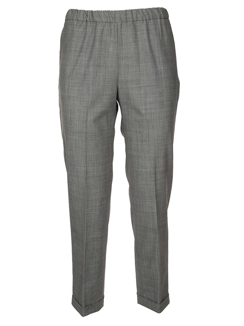 QL2 Quelledue Cropped Trousers in Grey