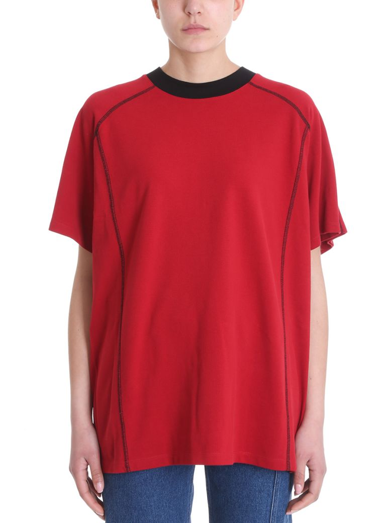 DOUBLE RED COTTON T-SHIRT