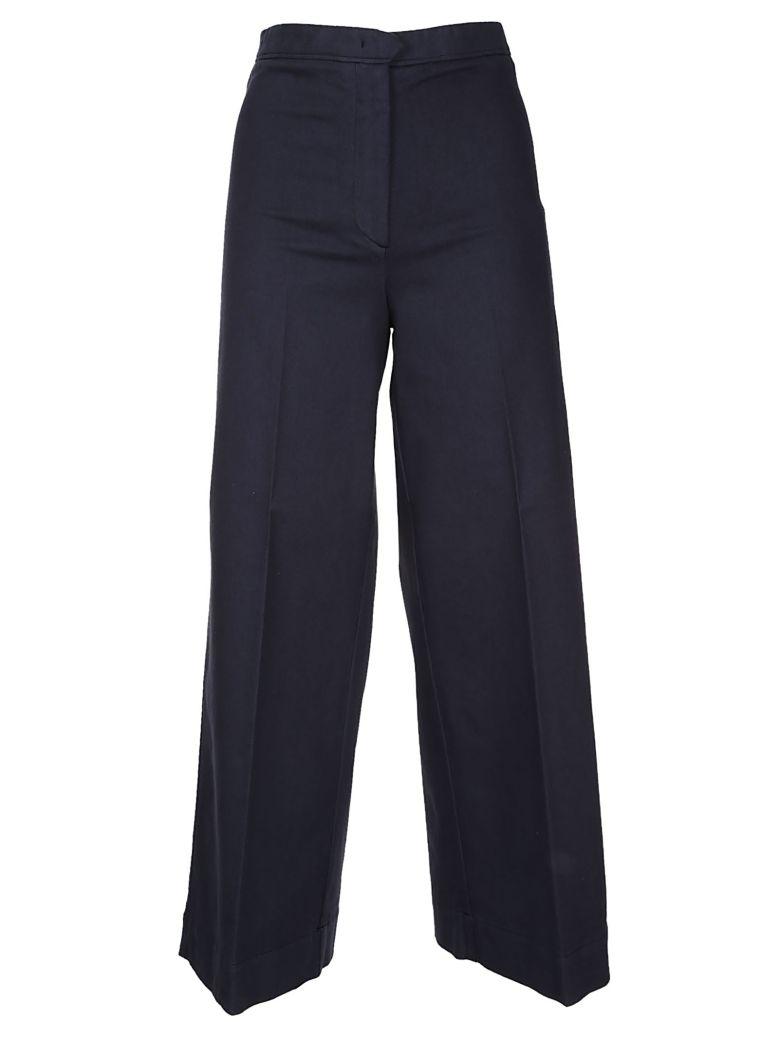 QL2 Quelledue Wide Leg Trousers in Blue