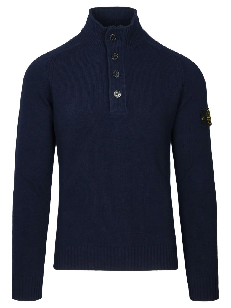 STONE ISLAND BUTTONS CLOSURE SWEATER