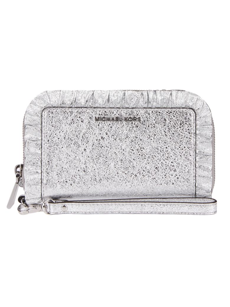 MICHAEL MICHAEL KORS JET SET RUFFLED CLUTCH
