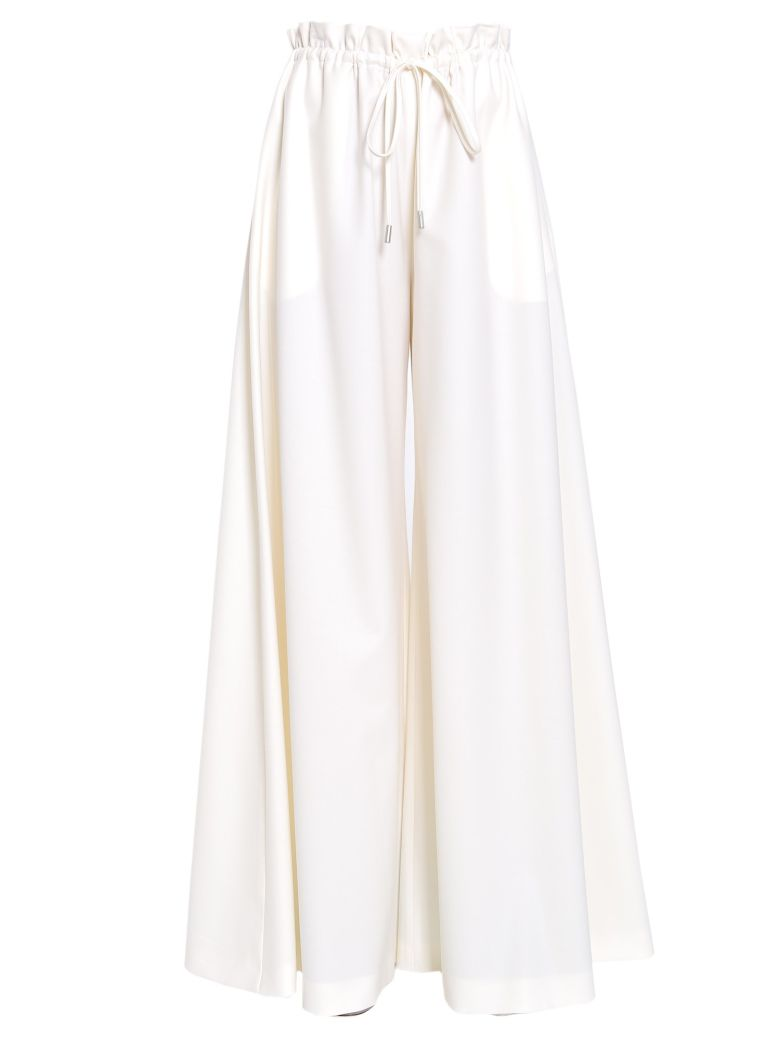 SARA BATTAGLIA Trousers With Drawstring Fastening in Ivory