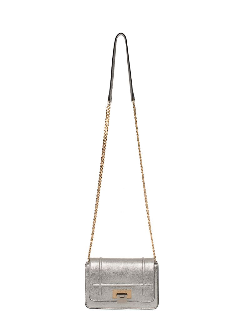 Visone Leathers SILVER LIZZY SMALL LEATHER SHOULDER BAG