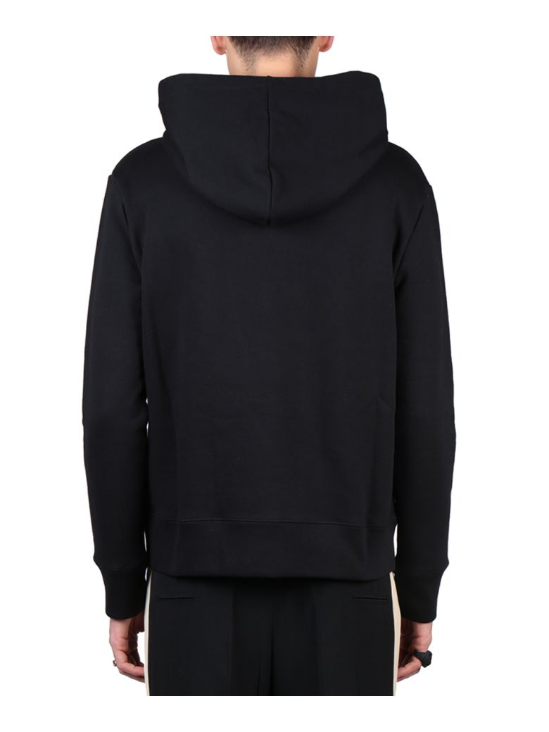 GUCCI Embroidered Loopback Cotton-Jersey Hoodie, Black