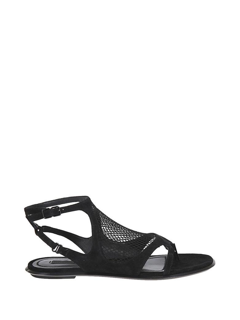 Low Net Sandals, Black