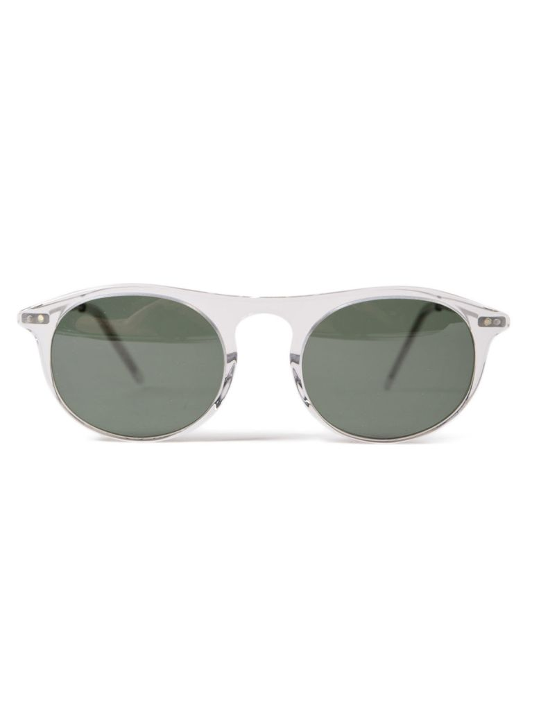 DELIRIOUS Round Frame Sunglasses in Grey Fin