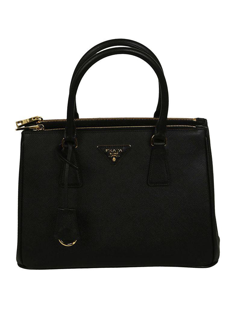 f1f183870f25b0 Prada Galleria Medium Textured-Leather Tote In Black | ModeSens