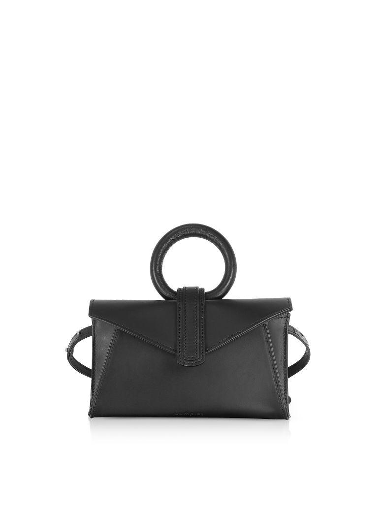 Complet BLACK LEATHER VALERY MICRO BELT BAG -SHOULDER BAG