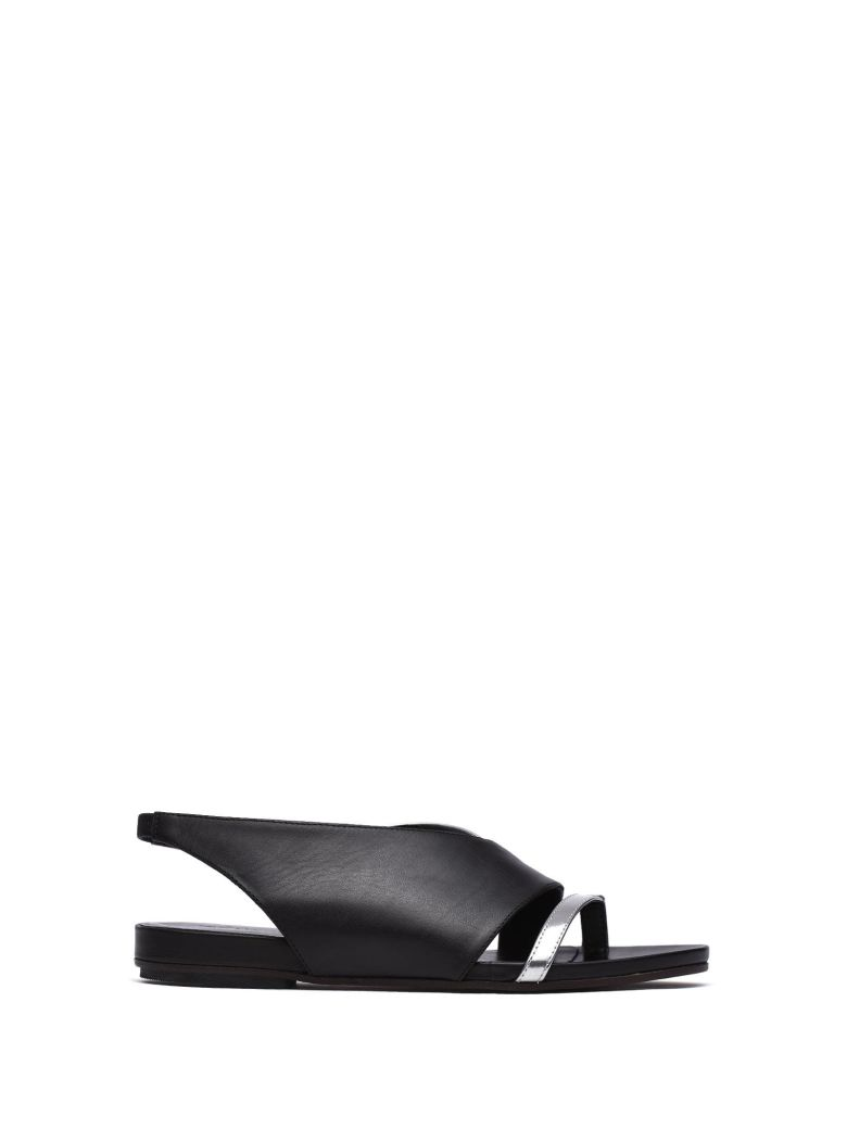 VIC MATIE BLACK ASYMMETRICAL SANDAL
