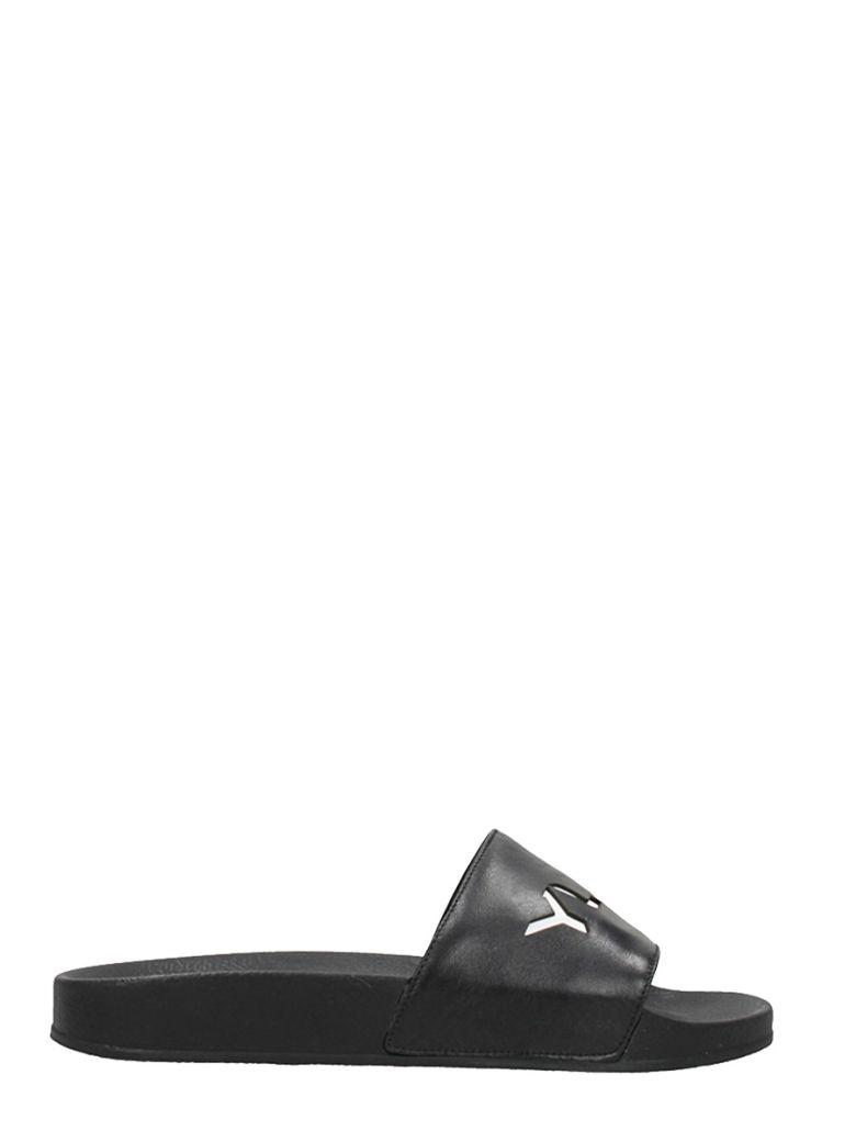 YLATI FOOTWEAR BLACK RUBBER FLATS SANDALS