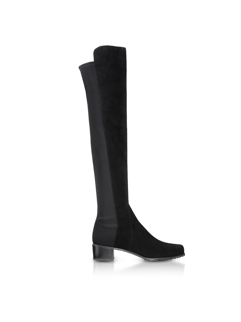 RESERVE BLACK SUEDE BOOTS